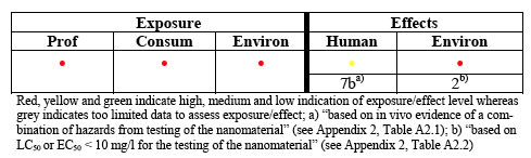 Example of the evaluation of environmental hazard of fullerene