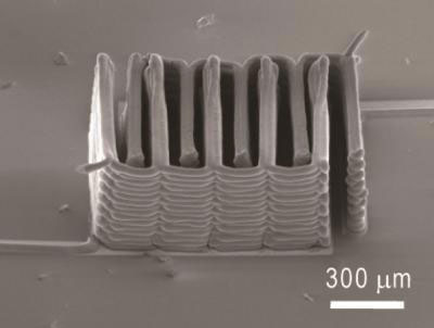 interlaced stack of 3D printed electrodes