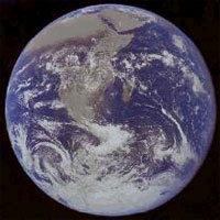 Earth covered by grey goo