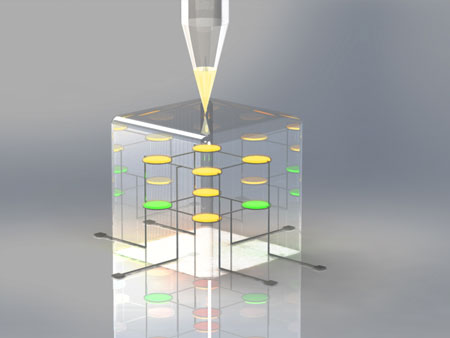 3D printed quantum dot light-emitting diode (QLED)