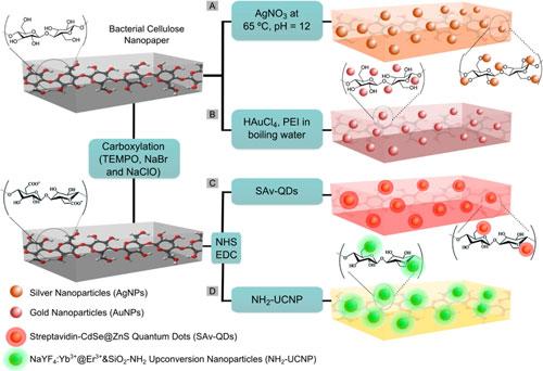 Schematic nanopaper-based composites