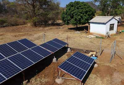 Photovoltaics for water pumping in a village in Zimbabwe