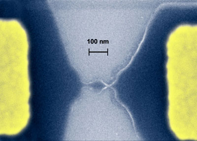 Quantum dot carved from a graphene sheet