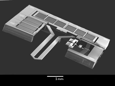 MEMS-based microgripper with integrated two-axis force sensor