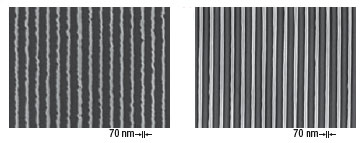 nanoscale silicon lines improved by SPEL