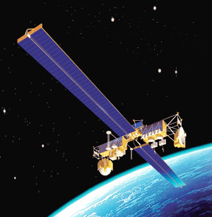 Milstar satellite in orbit