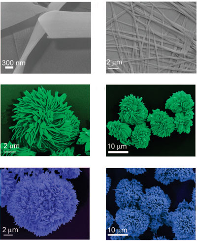 different crystalline nanostructures