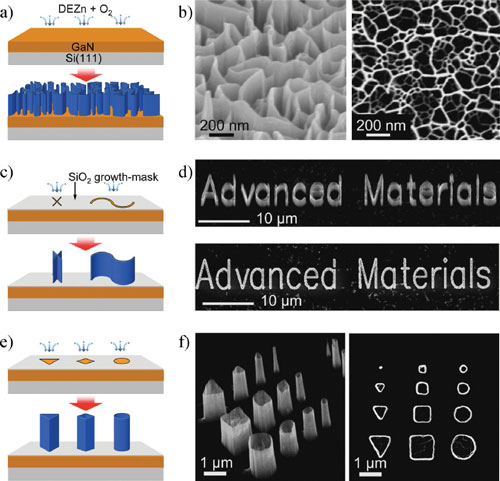 Schematics of the process for obtaining shape-controlled nanoarchitectures using nanowalls