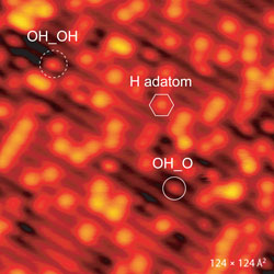 STM images of the h-TiO2(110) surface after oxygen exposure